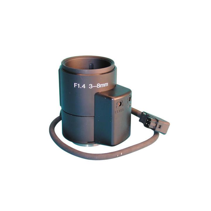 Objetivo pilotado por camara de 3 a 8mm (pilotage iris por tension) video vigilancia objetivos de camaras