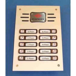 Interphone de rue 10bp (alpp 10xcpp à rajouter) platine interphone de rue platines pour interphone