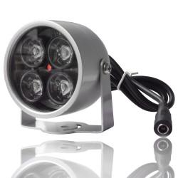 Projecteur infrarouge étanche 4 leds 20m 25m 30m vision nocturne pour camera de surveillance de nuit