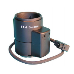 Objetivo pilotado por camara e 3 a 8mm (pilotage iris por vídeo) accesorios video vigilancia objetivos de camaras