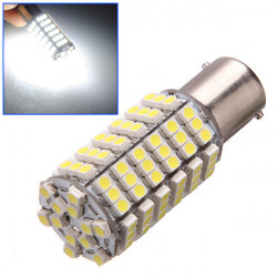 12v led bulb ba15s 120 6w 7w auto 3528 1210 smd white light beacon