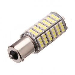 Lampadina 12v 6w 7w LED ba15S 120 auto 3528 1210 smd bianco faro