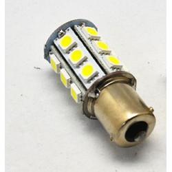 Ampoule ba15s 24 led 12v 3w 3.5w p21w auto 5050 smd blanc lumiere gyrophare