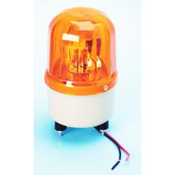 Girofaro fisso 12vcc 10w ambra (fissazione con viti) rb101 girofari elettrici fissi colore ambra
