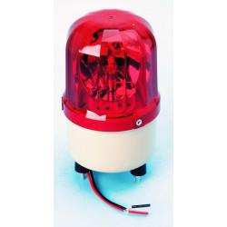 Girofaro fisso 12vcc 10w rosso (fissazione con viti) rb101 girofari elettrici fissi colorerosso
