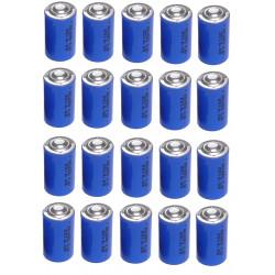 20 x 3.6v 1200mah lithium battery 1/2 aa tl5902 tl5151 tl5101 tl4902 ls14250 14250 ls tl sl750 sl350 lct1200