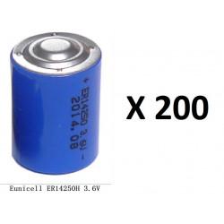 200 x 3.6v 1200mah lithium battery 1/2 aa tl5902 tl5151 tl5101 tl4902 ls14250 14250 ls tl sl750 sl350 lct1200