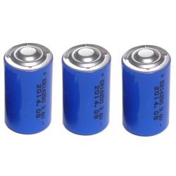 3 x 3.6v 1200mah lithium battery 1/2 aa tl5902 tl5151 tl5101 tl4902 ls14250 14250 ls tl sl750 sl350 lct1200