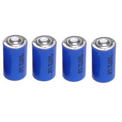4 x 3.6v 1200mah lithium battery 1/2 aa tl5902 tl5151 tl5101 tl4902 ls14250 14250 ls tl sl750 sl350 lct1200