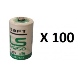 100 pcs ls14250 ls 14250 1 2aa lithium 3.6v battery new
