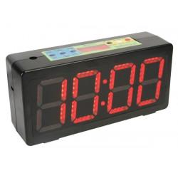 Chronometre compte a rebours horloge wc4171 afficheur led avec chiffres de 10cm minuterie