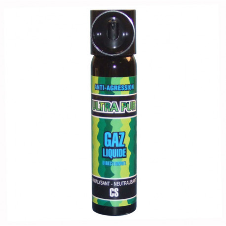 Aerosol gas paralisante 2% 75ml gran modelo cs spray cs spray cs spray lacrimogneo gas defensa aerosoles seguridad