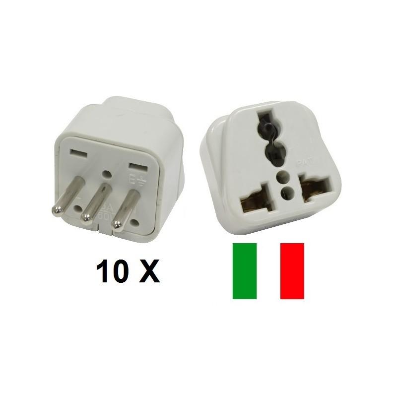 lot de 10 adaptateur voyage italie uruguay vers prise europe convertisseur fiche electrique. Black Bedroom Furniture Sets. Home Design Ideas