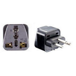 Swiss adapter plug socket with earth to go to liechtenstein jordan Madagascar Rwanda