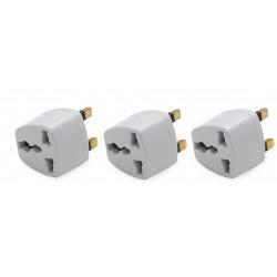 3 x Adaptador electrico enchufe europeo hacia enchufe ingles lle929 adaptador convertidor