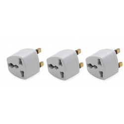 3 x Travel adapter electric adapter gb plug to european , 1a 250vac electric adapters gb plug to european , 1a 250vac electric a
