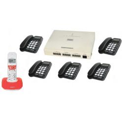 Pack central telephonique 3 lignes 8 12 postes autocommutateur téléphone pabx