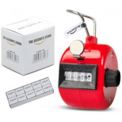 Red Handheld Tally Counter 4 Digit Display for Lap/Sport/Coach/School/Event