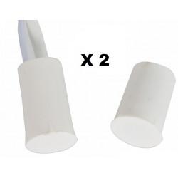 2 Contact nf encastrable 10mm blanc ouverture detecteur capteur magnetique pour alarme