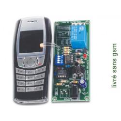 Remote control via gsm mobile phone