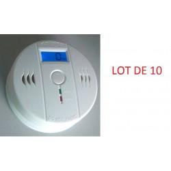 10 Autonome sensor kohlenmonoxid-detektor 9v co en50291 typ b geruchloses gas erkennung alarm summer