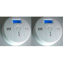 2 Autonome sensor kohlenmonoxid-detektor 9v co en50291 typ b geruchloses gas erkennung alarm summer