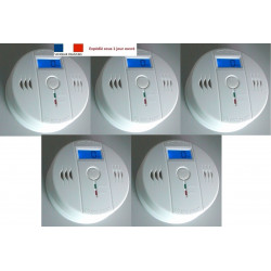 PACK OF 5 Autonomous sensor carbon monoxide detector co 9v en50291 type b odorless gas detection alarm buzzer