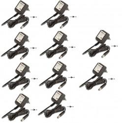 Lot de 10 adaptateurs 110v 220v 12v 1.2a 15w alimentation compatible 0.8a 0.9a 1a 1.1a pss1212