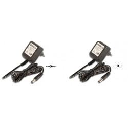 Lot de 2 adaptateurs 110v 220v 12v 1.2a 15w alimentation compatible 0.8a 0.9a 1a 1.1a pss1212