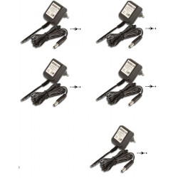 Lot de 5 adaptateurs 110v 220v 12v 1.2a 15w alimentation compatible 0.8a 0.9a 1a 1.1a pss1212