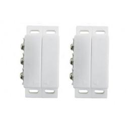 2 Aufbaukontakt magnetischer no nc kontakt elfenbeinfarbe alarmkontakt zubehor fur alarmanlage magnetkontakt sicherheit alarmkon