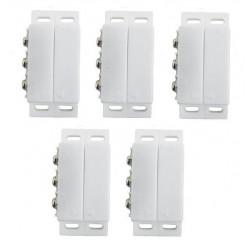 Lot de 5 contacteurs detecteur ouverture magnetique alarme contact no nf saillie ivoire haa27