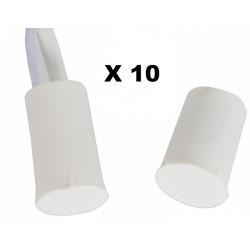 10 contacts nf encastrable 10mm blanc ouverture detecteur capteur magnetique pour alarme