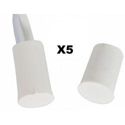 5 contacts nf encastrable 10mm blanc ouverture detecteur capteur magnetique pour alarme