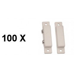 100 Detector surface mounting nc magnetic contact, white alarm detector alarm sensor switches magnetic door sensors white magnet