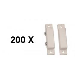 200 Detector apertura magnetico contacto nf saledizo adesivo blanco detectores de apertura alarma