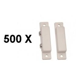 500 Detector apertura magnetico contacto nf saledizo adesivo blanco detectores de apertura alarma