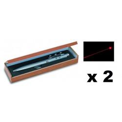 2 Ballpoint pen red laser pointer electronics lazer beam white led lamp (3 in 1) 143.1651