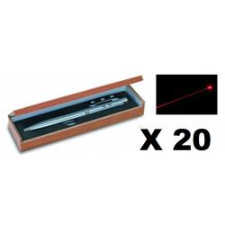 20 Ballpoint pen red laser pointer electronics lazer beam white led lamp (3 in 1) 143.1651