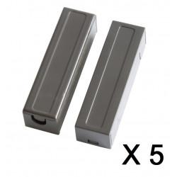 5 capteurs detecteur ouverture magnetique contacteur alarme contact no saillie creme bs-2033a marron