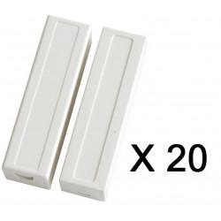20 capteurs detecteur ouverture magnetique contacteur alarme contact no saillie creme bs-2033a blanc