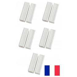 5 capteurs detecteur ouverture magnetique contacteur alarme contact no saillie creme bs-2033a blanc