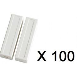 100 capteurs detecteur ouverture magnetique haa309 contacteur alarme contact nf saillie bs-2033