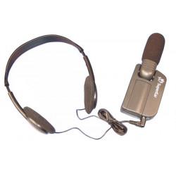Amplificatore suono micro cannone + casco apparecchio uditivo hap88 miglioramento ascolto ampli suonos digitale