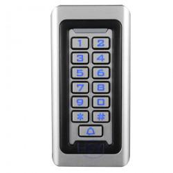 clavier en métal autonome contrôle d'accès Wiegand 26 vitesse de fonctionnement rapide RF porte accès 12V et 24V IP68
