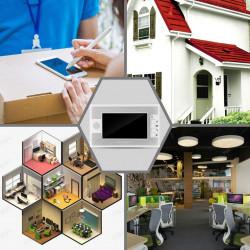 Kit videocitofonico per porta videocitofonica con 7 porte Videocitofono con 1 telecamera, schermo TFT LCD,