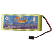 Batteries rechargeable battery pack cable sheath car jack reception i mh 3000mah 6v alc63000