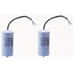 2 x Start capacitor mf micro farad 400v 80-b cddempe8000al