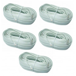 5 Cable telephone cable for pvnm, additional video monitor for video doorphone , rj12 to rj12 6p 6c, 16m video monitor cable