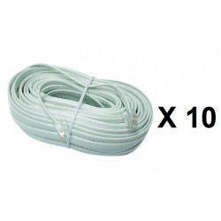 10 Cable telephone cable for pvnm, additional video monitor for video doorphone , rj12 to rj12 6p 6c, 16m video monitor cable